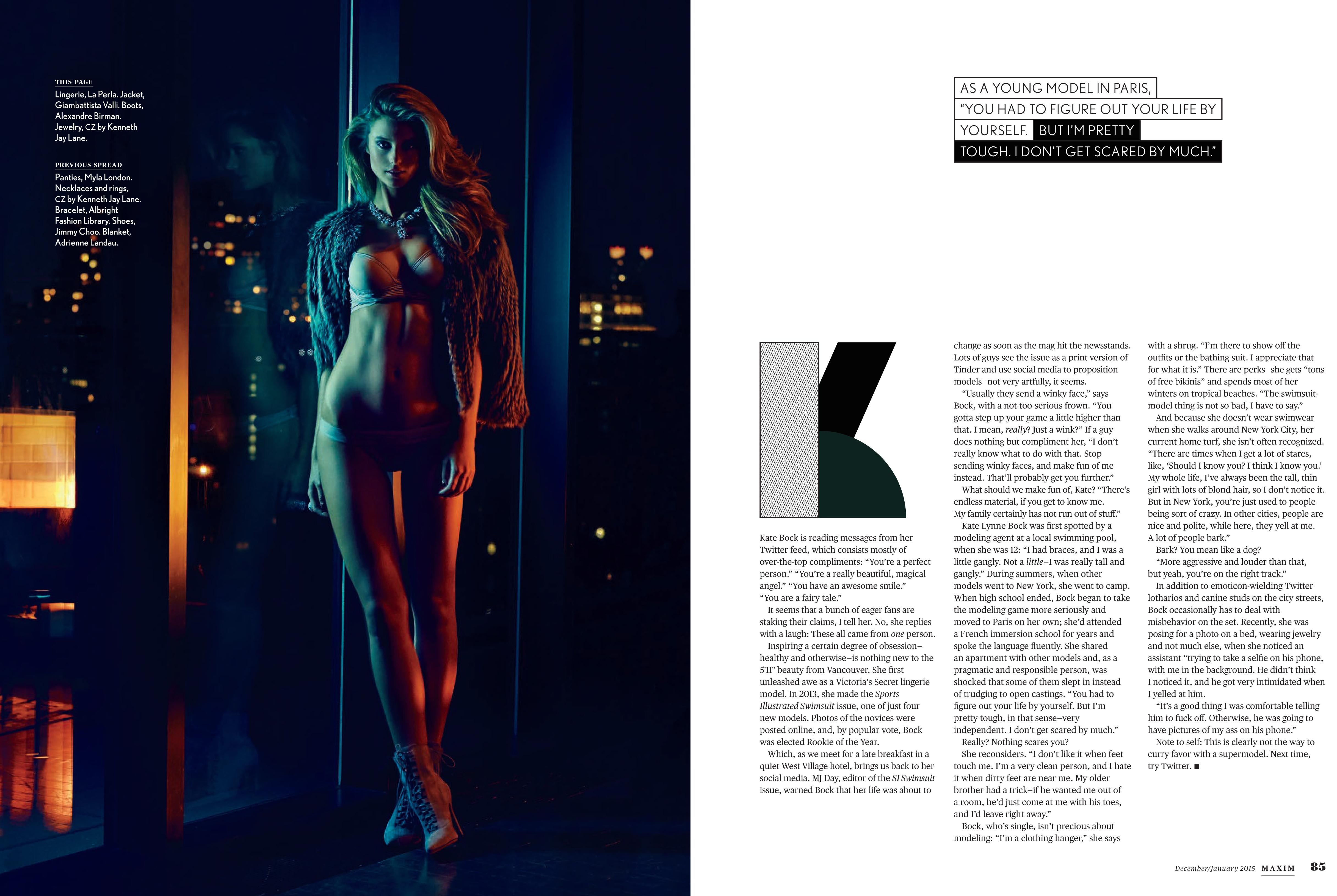 Lizbell Agency Kate Bock S Super Hot Editorial In Maxim